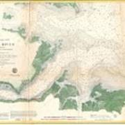 1857 U.s. Coast Survey Map Or Chart Of The Entrance To The York River, Virginia Poster