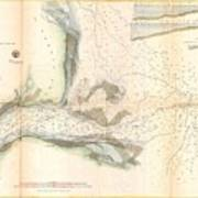1857 U.s. Coast Survey Map Or Chart Of The Mouth Of St. Johns River, Florida Poster