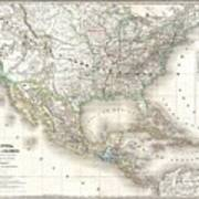 1858 Dufour Map Of The United States  Poster