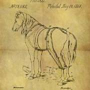 1868 Horse Harness Patent Poster