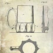 1873 Beer Mug Patent Poster