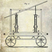 1875 Fire Extinguisher Patent Poster