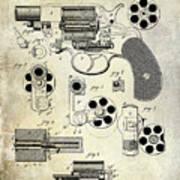 1881 Revolver Patent  Poster