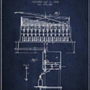 1884 Bottling Machine Patent - Navy Blue Poster