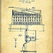 1884 Bottling Machine Patent - Vintage Poster