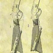 1884 Rifle Stock Patent Poster