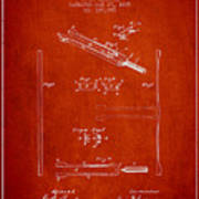 1885 Tuning Fork Patent - Red Poster