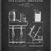 1888 Beer Bottling Machine Patent - Charcoal Poster