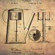 1889 Coffee Maker Patent Poster