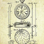 1889 Stop Watch Patent Art S. 1 Poster