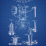 1890 Bottling Machine Patent - Blueprint Poster