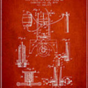 1890 Bottling Machine Patent - Red Poster