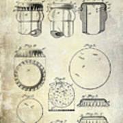 1892 Bottle Cap Patent  Poster