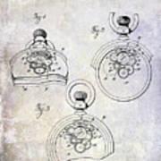 1893 Pocket Watch Patent Poster