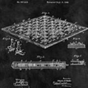 1896 Chessboard Patent Poster