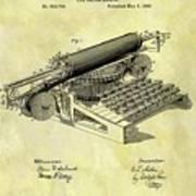 1896 Typewriter Patent Poster