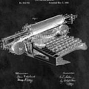 1896 Typewriter Patent Illustration Poster