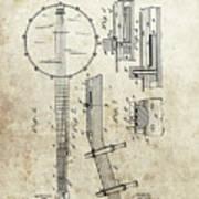 1897 Banjo Patent Poster