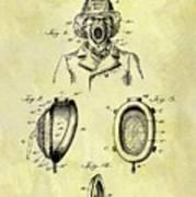 1897 Fireman's Inhaler Patent Poster