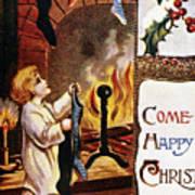 American Christmas Card Poster