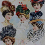 19 Century Ladies Hats The Delineator Early Autumn Hats Poster