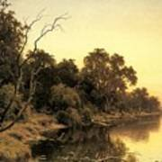 Johnstone Henry James A Backwater Of The River Murray South Australia Henry James Johnstone Poster
