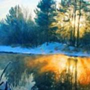 Nature Oil Paintings Landscapes Poster