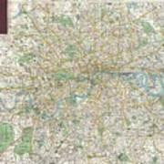 1900 Bacon Pocket Map Of London England  Poster