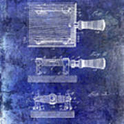1900 Knife Switch Patent Blue Poster