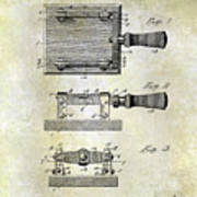 1900 Knife Switch Patent Poster