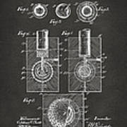 1902 Golf Ball Patent Artwork - Gray Poster