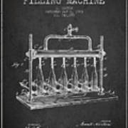 1903 Bottle Filling Machine Patent - Charcoal Poster