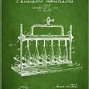 1903 Bottle Filling Machine Patent - Green Poster