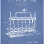 1903 Bottle Filling Machine Patent - Light Blue Poster