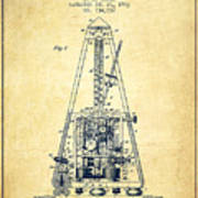 1903 Electric Metronome Patent - Vintage Poster