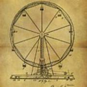 1907 Ferris Wheel Patent Poster
