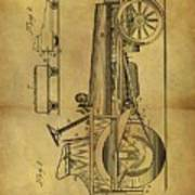 1907 Tractor Patent Poster