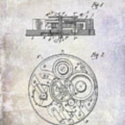 1908 Pocket Watch Patent  Poster