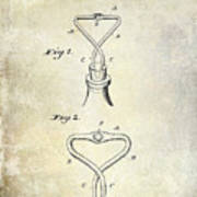 1909 Cork Extractor Patent Poster