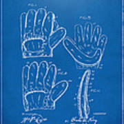 1910 Baseball Glove Patent Artwork Blueprint Poster