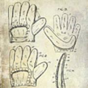 1910 Baseball Glove Patent  Poster