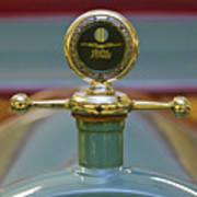 1913 White Gentleman's Roadster Hood Ornament Poster