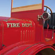 1919 Volunteer Fire Truck Poster