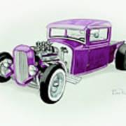 1920s Hotrod Pickup Poster
