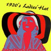 1920s Ladies Hat Poster