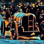 1920's Racing Car Poster