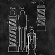 1921 Barber Pole Illustration Poster