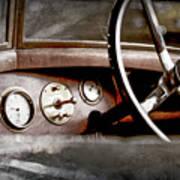 1921 Bentley Steering Wheel -0454ac Poster