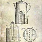 1921 Coffee Pot Patent Poster