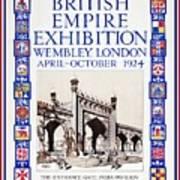 1924 British Empire Exhibition Wembley Poster